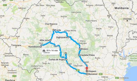 rumania mapa